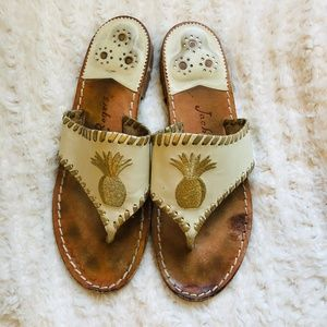 Jack Rodgers Nude Sandals Size 8.5